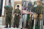 مجموعة من جنود ومجندات الاحتلال يقتحمون المسجد الإبراهيمي في الخليل.