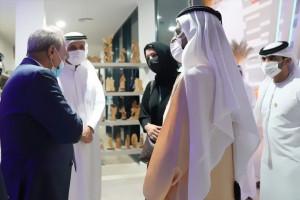 ماجد فرج يشارك في معرض إكسبو التطبيعي ويلتقي مع حاكم الإمارات.